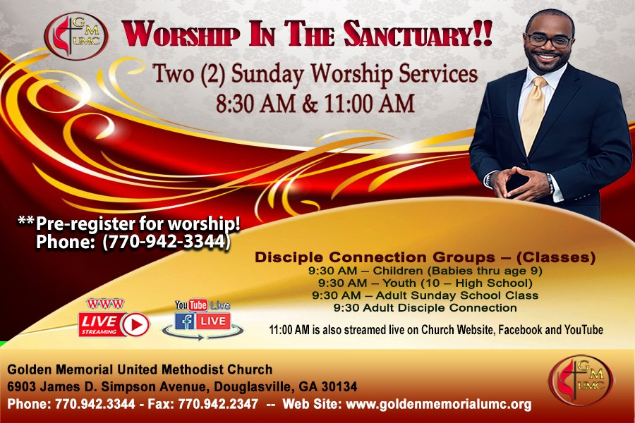 WORSHIP in the Sanctuary!
